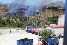 Vista de la zona del incendio