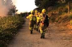 Labores de extinción del incendio en Puerto de Béjar- La Garganta