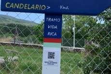 Indicadores que señalan el antiguo camino arriero a su paso por Candelario