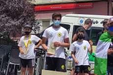 Jaime, Alejandro y Álvaro, segundo, quinto y sexto en categoría U15