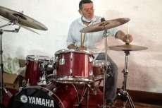 Jose Román Campo Batería del grupo Vado Permanente