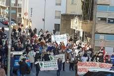 Protestas de la plataforma frente al Hospital de Béjar