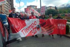 Manifestación del Primero de Mayo en Calle Recreo