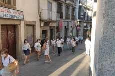 Manifestación por la calle Mayor de Béjar