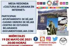 Cartel anunciador de la mesa redonda sobre Internet en el Casino Obrero de Béjar