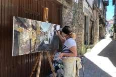 VII Certamen de Pintura Rápida de Mogarraz. Imagen Facebook Alcaldesa de Mogarraz