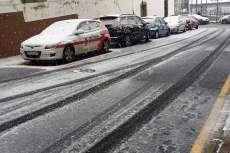 Subida del Murallón nevada