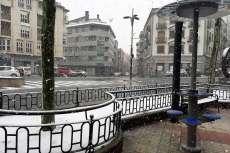 Vista de la Plaza e España durante la nevada