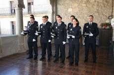 Grupo de agentes de policía