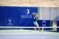 Instante de la final del Open de Tenis de Béjar