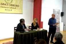 Mesa de ponentes durante la presentación de la biografía de Pedro Dorado Montero