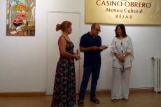 Inauguración de la exposición de pintura de Pilar Salinas en el Casino Obrero