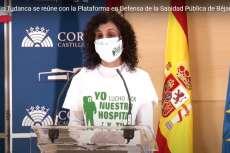 Marisa Díaz, representante de la Plataforma en defensa de la sanidad de Béjar