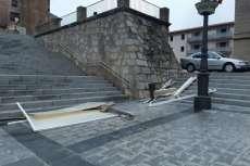 Daños del temporal Plaza Mayor