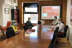 Visita del presidente de la Diputación de Salamanca a las dependencias de Cruz Roja