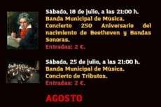 Cartel de la programación del teatro Cervantes de Béjar