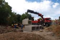 Obras del nuevo puente en SantibañObras del nuevo puente en Santibañez de Béjarez de Béjar