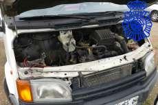 Vehiculo en el que robaron los detenidos