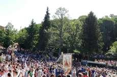 Ambiente festivo durante la romería