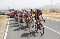 Grupo de escapados, durante la carrera
